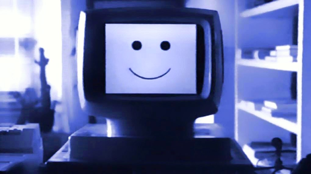 computer smiling